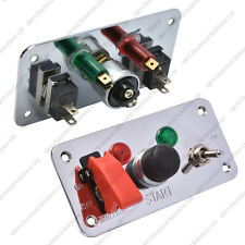 Motorsport Dual Ignition Switch Panel / Push Button Start 25A 12V Track Car Boat