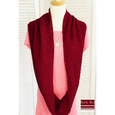 Womens Warm Knit Neck Circle Wool Cowl Snood Long Scarf Winter Great Gift