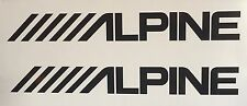(2) Alpine car audio speakers stereo Amplifier Vinyl Decal Sticker 8x1 inch JDM