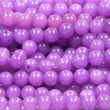 "8MM PURPLE JADE ROUND GEMSTONE BEADS 16"" ST"