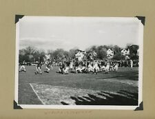 VINTAGE WOBURN STONEHAM MASS HS HIGH SCHOOL FOOTBALL GAME OLD PHOTOGRAPH 1950S