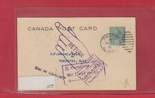 Banff Alberta 1931 stationery card UNCLAIMED NOT IN DIRECTORY Canada