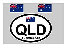 QUEENSLAND AUSTRALIA FLAG WINDOW / BUMPER STICKER FOR CAR BIKE CARAVAN TRAILER