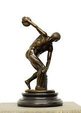 """Mitología escultura de bronce """"diskobolos"""" el diskuswerfer, firmados"""