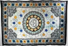 """Floral Triquetra Tapestry Blanket 72 x 108"""" Wiccan Pagan Altar Supply WTFT"""