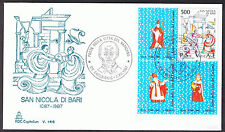 Vatican City - First Day of Issue - 1987 - San Nicola di Bari SG897 Block
