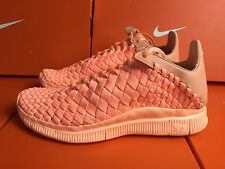 Nike Free Inneva Woven Tech SP Men's Trainers Shoes UK 6 EUR 39 Sunset Orange