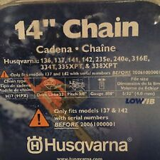"""HUSQVARNA OEM 14"""" Chainsaw Chain Replacement 3/8"""" .050"""" 52DL H37 (91PX) 53130037"""