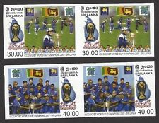 Sri Lanka 2007 ICC Cricket World Cup Champions essays MNH pairs Ӝ