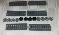 NEW GENUINE LEGO TECHNIC GRAY CATERPILLAR TRACK'S x 60 + DRIVE AND GUIDE WHEEL'S