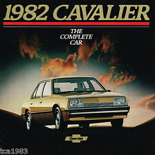 1982 Chevy CAVALIER Brochure/Catalog w/Color Chart : CL,HATCHBACK,STATION WAGON