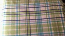 POTTERY BARN TEEN, BEDDING SET, BLUE GREEN PLAID, DUVET, FITTED, FLAT, TWIN