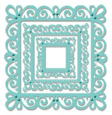 Sue Dix SWEET DIXIE Dies SQUARE SWIRLY FRAME Cut Emboss Stencil SDD021