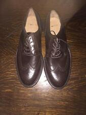 JCREW Preston Leather Wing Tips Shoes $225 9 dark chocolate brown suiting WORN