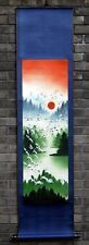 """Chinese painting wall scroll landscape crane 15x59"""" traditional feng shui art"""