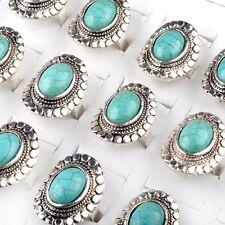 Mode Ring Türkis blau Stein der Indianer band förmige Fassung verstellbar