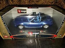 BMW M Roadster Burago Blue 1996 1/24 Scale Bijoux Collection