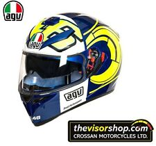 "AGV K3 SV ""Winter Test 2012"" Rossi Replica Motorcycle Helmet - BLUE- XL 61-62cm"