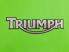 Triumph 2-colour for Track bike or road fairing Decals Stickers PAIR #39C