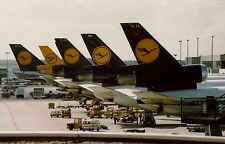 PRINT of Lufthansa DC-10 Aircraft at Frankfurt Airport 1989