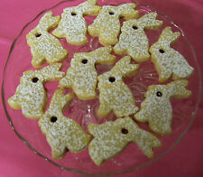 2LB EASTER LINZER TART BUNNY COOKIES  W/RASPBERRY,HUNGARIAN/EUROPIAN,HOME MADE