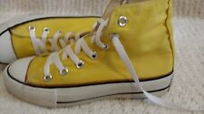 BOY/GIRL YELLOW HIGH TOP CONVERSE SNEAKERS YOUTH SIZE 3 YOUTH $5.00 SHIPPING FEE