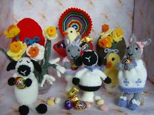 Easter Eggs (Hollow), Egg Cosies, Chick, Lamb, Bunny - Soft Toy Knitting Pattern