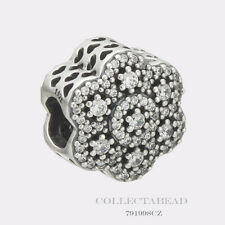 Authentic Pandora Silver Crystallized Floral with Clear CZ Bead 791998CZ