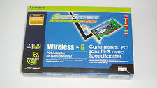 LINKSYS WMP54GS SPEED BOOSTER WIRELESS-G PCI ADAPTER - EXCELLENT