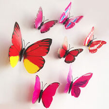 12 Pcs Hot DIY 3D Butterfly Wall Sticker Art Design Decals Home Decor Room Decor