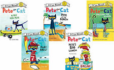Pete the Cat Series Collection Books 1-5! I Can Read 1st Grade Reading Level 1