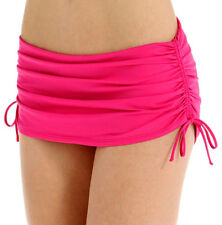 XS Tommy Bahama Skirted Swim Bottom Pearl Solids Side Shirred Minnie Pink NWT