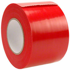 "4""x180' Husky Yellow Guard Vapor Barrier Sealing Tape For Plastic Sheeting Red"