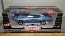 1/18 ERTL AMERICAN MUSCLE 1970 CHEVROLET CHEVELLE SS454 ASTRO BLUE/BLK STRIPE bd