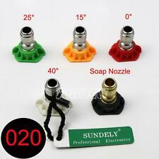 Quintuplet Pressure Washer Cleaning Nozzles Tip Set 0 15 25 40 65 Degrees 1.8GPM