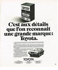 "PUBLICITE  1975   TOYOTA   "" BOITE A IDEES"""