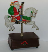 1988 Santa Clause On a Horse Music Box WORKING