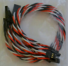 (5) Futaba Servo Extension Leads with 30CM Heavy Duty Twisted 20awg Wire