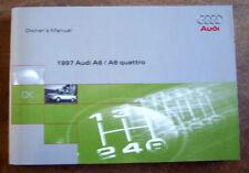 1997 Audi A6 Quatro Owners Manual Parts Service