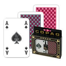 2 Copag Doppelpack Plastik Poker Spiele, 4 Pips Regular Face, Spielkarten Frobis