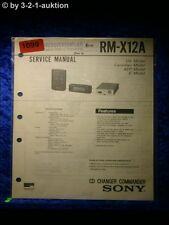 Sony Service Manual RM X12A CD Charger Commander (#1099)