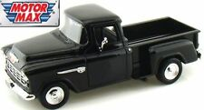 1/24 Scale, Chevrolet 5100 Stepside Pick Up, black '55 Motormax. Diecast metal M