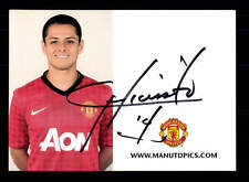 Chicharito Autogrammkarte Manchester United 2012-13 Original Sign+A 147476