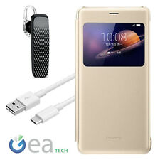 Huawei GIFT BOX Originale Per Honor V8 Custodia S View Gold + Auricolare BT AM04