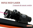 Tactical Red Laser Sight Scope Rifle Gun with 2 Switch and Rail Mounts & Battery