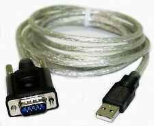 AYA 5Ft. USB 2.0 to Serial (9-pin) DB-9 RS-232 Adapter Cable with FTDI Chipset
