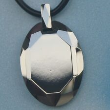 cool oval facet scratch proof  tungsten pendant necklace 33.2g