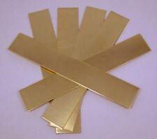 """Raw Brass Sheet, Bracelet Cuff Blanks 6"""" x 1"""" 18ga Package Of 6"""