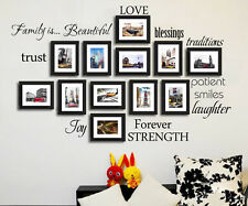 Family is beautiful Love Blessing Vinyl Wall sticker Art wall decals home decor
