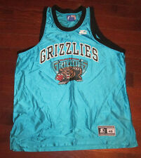 VANCOUVER GRIZZLIES Vtg 90's 1994 Inaugural STARTER basketball jersey 48 euc